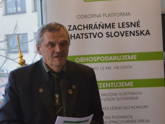 Koordinátor odbornej platformy F. Štulajter: Obhospodarovatelia lesa a spracovatelia dreva sú na jednej lodi