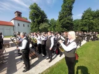 Poľovnícka hudba na Budatínskom hrade